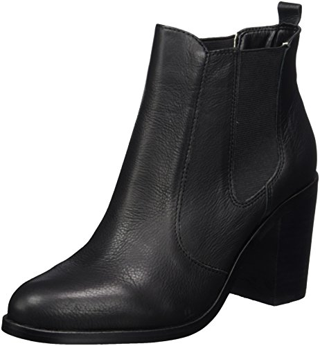 Buffalo London Damen 416-7044 INDIOS Leather Chelsea Boots, Schwarz (Black 01), 38 EU