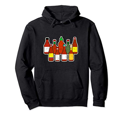 Habanero Hot Sauce Foodie Spicy Hot Ghost Chili Pepper Pullover Hoodie