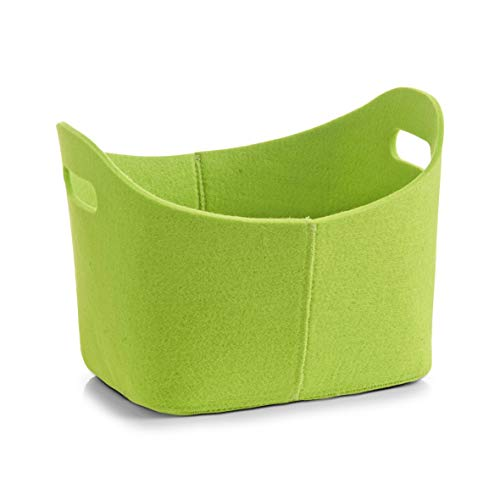 Zeller 14302 Korb, oval, Filz, grün