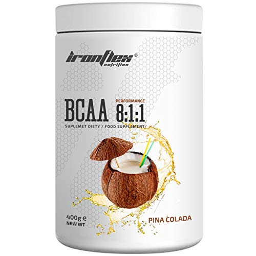 IronFlex BCAA 8:1:1-1 Pack - Branched Chain Amino Acids in Powder - Muscle Regeneration - Anticatabolic (Pina Colada, 400g)