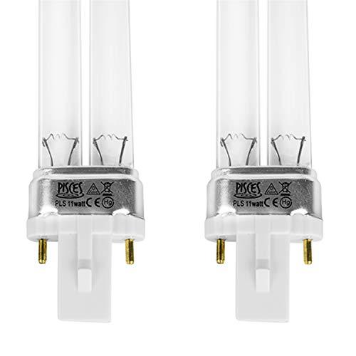 Glühbirnen UV PLS für Teichfilter UVC 11 W, 2 Stück