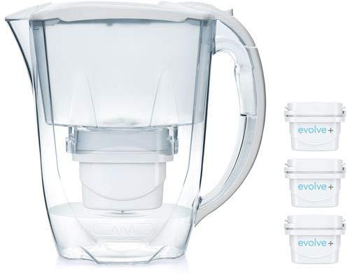 Aqua Optima Carafe 3 Mois Pack-Oria avec 3 Cartouches filtrantes Day Evolve+ Blanc 256 x 122 x 266 mm