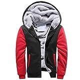 LiGG Homme Veste à Capuche avec Zippée Manches Longues Épaisse Manteau à Capuche Hiver Chaud Polaires Doublé Sweats à Capuche