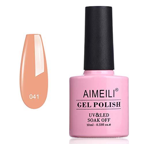 AIMEILI UV LED Gellack ablösbarer Gel Nagellack Pastell Pfirsich Gel Polish - Nude Peachy (041)...