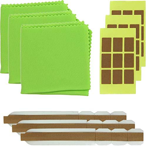 Thorani 3er Set Ersatz-Klebesticker & doppelseitige Ersatz-Klebesticker für Blickschutzfilter Sichtschutzfolie für Monitor, Laptop & MacBook