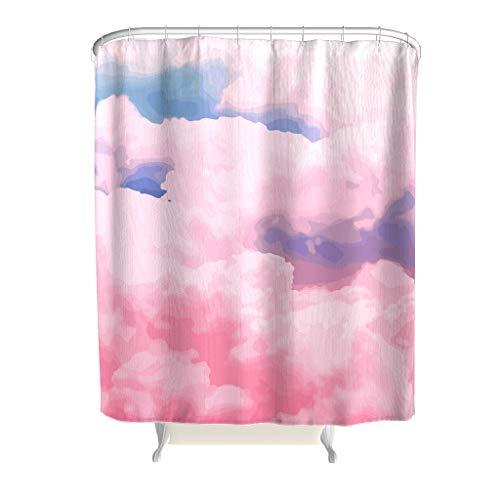RQPPY Süßigkeit Sky Pink Duschvorhang Anti-Bakteriell Wasserabweisender Stoff Top Qualität Badewannenvorhang