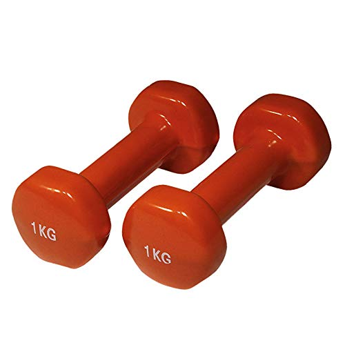 Yate Paar Neopren Fitness Hanteln 0,5kg - 4kg Gymnastikhanteln Kurzhanteln (1kg orange)