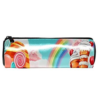 Trousse à crayons Pochette à crayons Trousse de maquillage Grande capacité Lollipops de cupcake de bonbons pour crayon, organisateur cosmétique
