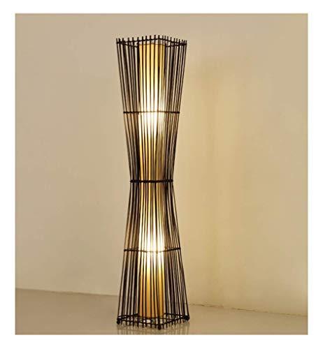 Vloerlamp-Nieuwe Chinese Rotan Vloerlamp Moderne Retro Restaurant Tuin Bamboe Slaapkamer Studie Kamer Hotel Vloerlamp