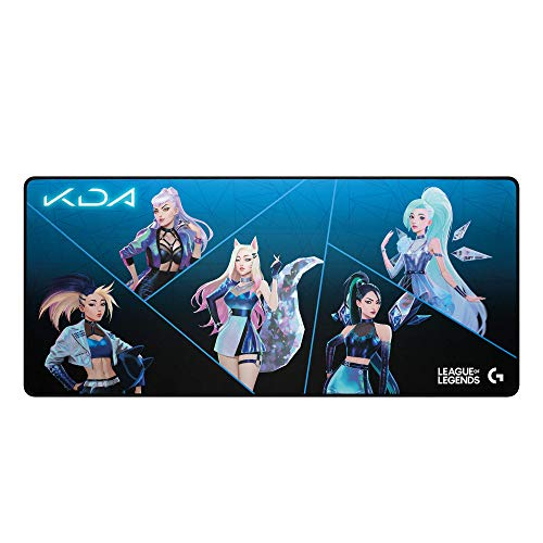 Logitech G840 K/DA XL Cloth Gaming Mouse Pad - 3 mm Thin, Stable Rubber Base - Official League of Legends KDA Gaming Gear