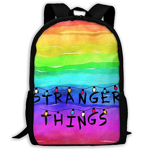H.X Shop Stranger Things Adult Backpack College Schoolbag Tr