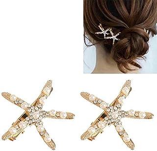 Fashion Rhinestone Pearl Starfish Hairpin For Women Brida Headpiece Hair Styling Tool Durable