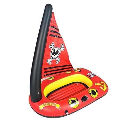 Katurn Schlauchboot - Aufblasbares Piratenschiff Für Kinder Wasser Toy Inflatable Floating Boat