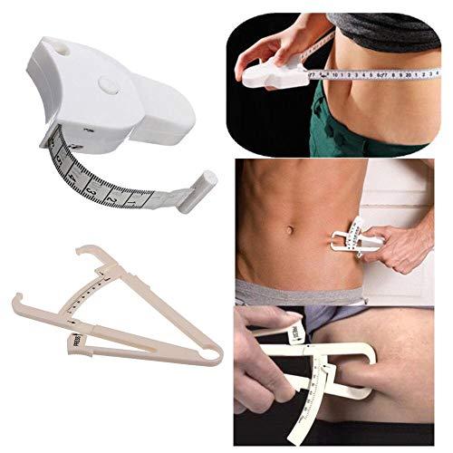 Körperfett-Taster und Maßband für Bodyfold Body Fat Analyzer und BMI-Messgerät von Boolavard