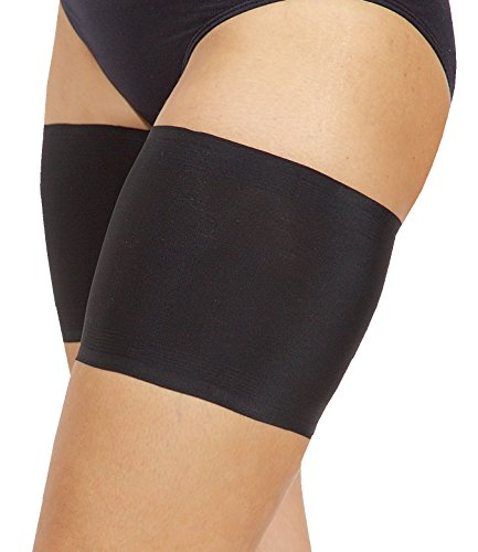 Bandelettes Original Patented Elastic Anti-Chafing Thigh Bands. Prevent Thigh Chafing - Black Unisex, 6' Size E (XX-Large)