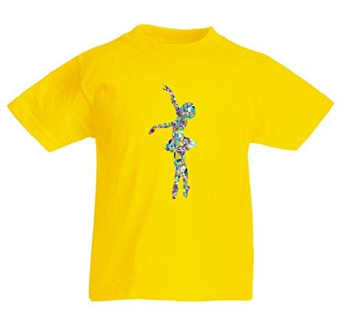 Camiseta de manga corta para el año - ballet - bailarina - danza - bailarina - mujeres - mujeres - mujeres - silueta - salud - entrenamiento para hombre - mujer - niños - 104 – 5XL amarillo Mujer Gr.: S