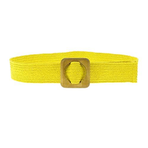 FASHIONGEN - Cinturón elástico para mujer CHARLOTTE - Amarillo, S-M