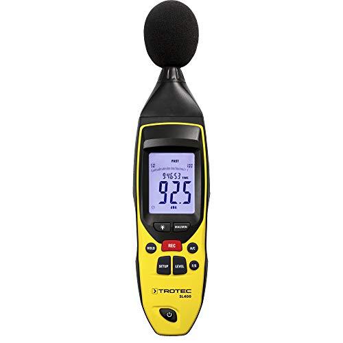 TROTEC 3510005020 SL400 Schallpegel Messgerät mit Datenlogger-Funktion (bis zu 32.700 Messwerte) mit USB-Anschluss und 3,5 mm Klinkenbuchse / Inkl. Kalibrierzertifikat, Mini-Stativ und Transportkoffer