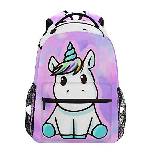 Ahomy Rucksack, Einhorn-Rucksack, Schultasche für Mädchen, Jungen, Damen, ideal für Reisen