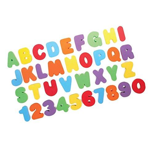 Gaoominy Lettere e Numeri di Bath con Bath Toy Organizer. Giocattoli da Bagno Educativi con Portaoggetti da Bagno Premium, con Due Ganci Un Ventosa.