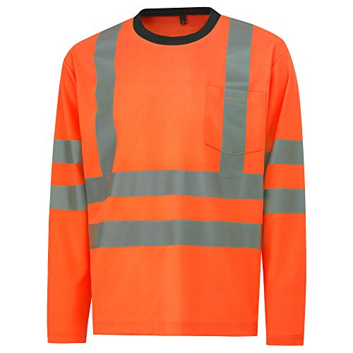 Helly hansen workwear warnschutz kenilworth cl 3 hiVis t-shirt à manches longues pour homme, taille l (orange) (79059
