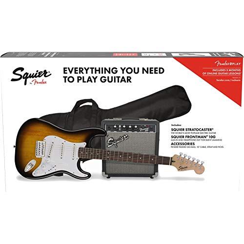 Fender Squier Stratocaster LRL Brown Sunburst + Frontman 10G + Funda +...
