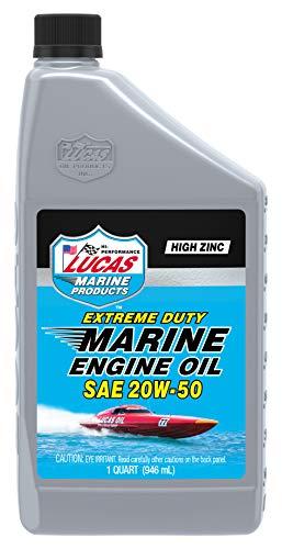 Lucas Oil Extreme Duty Marine Engine Oil SAE, 20W-50, 1 Quart (10653)