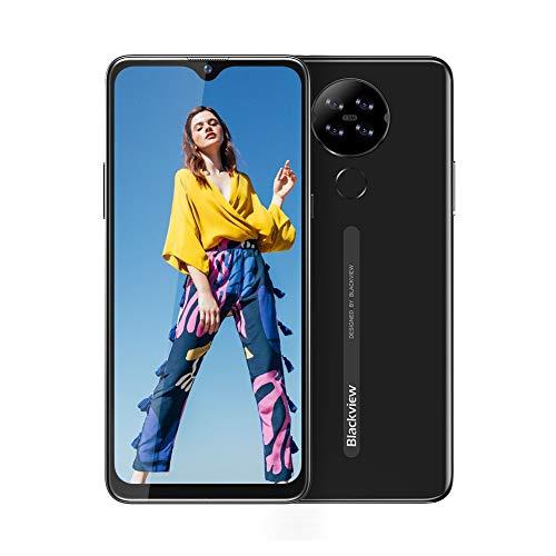 Blackview A80 Smartphone ohne Vertrag 4G, Android 10.0 Go, 6,2 Zoll HD+ Display, 13MP-Quad-Kamera, 4200mAh Batterie, 2GB/16GB, 128 GB erweiterbar, Dual Nano-SIM Handy - Deutsche Version - Schwarz