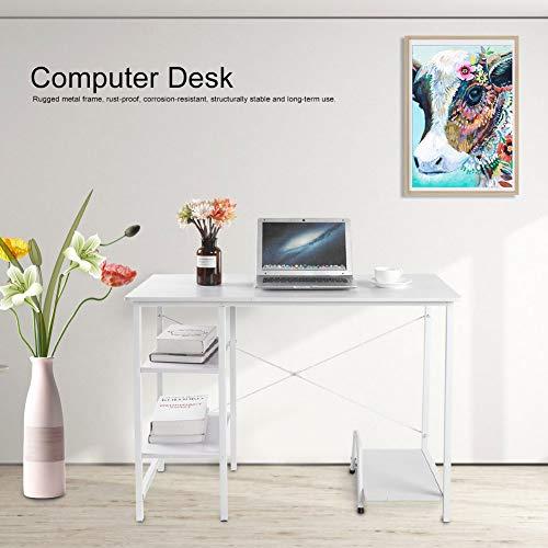 Escritorio Computadora de Oficina con 2 Estantes y Soporte de Host ...