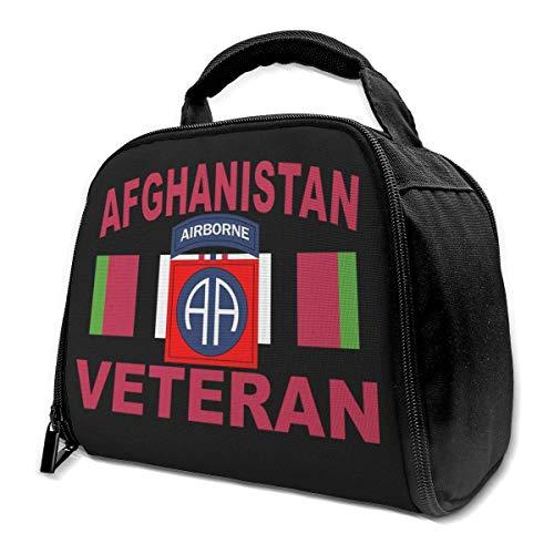 82. Airborne Afghanistan Veteran mit Kampagnenband Isolierte Tasche Lunch Bag Isolierte Lunch Box Einkaufstasche Kühltasche Für Picknickarbeiten