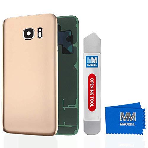 MMOBIEL Tapa Bateria/Carcasa Trasera con Lente de Cámara Compatible con Samsung S7 Edge G935 5.1 Pulg. (Oro)
