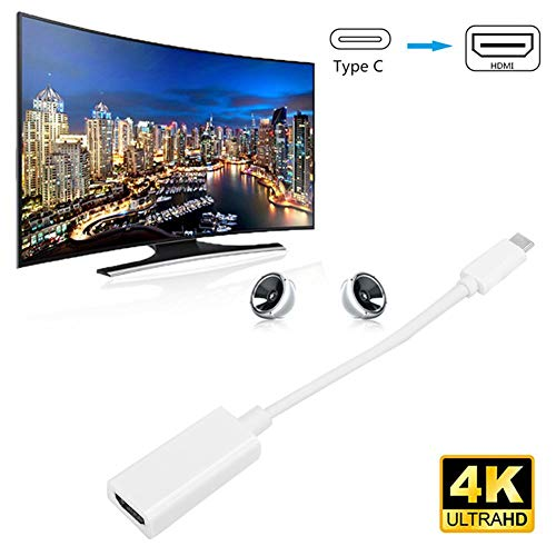 125 Computer Adapter Cable,720p Maximum Display Resolution,Strong Compatibility,Type-C to HDMI HD Cable Adapter Cord Wire 720P PC Accessory for Mobile/Computer/TV(White)