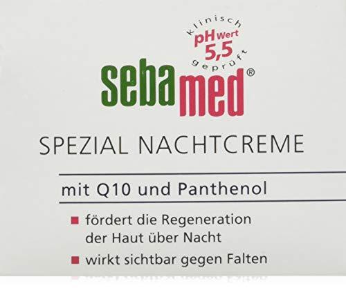 Sebamed Spezial Nachtcreme mit Q10 und Panthenol 75ml, fördert die Regeneration der Haut über Nacht, wirkt sichtbar gegen Falten