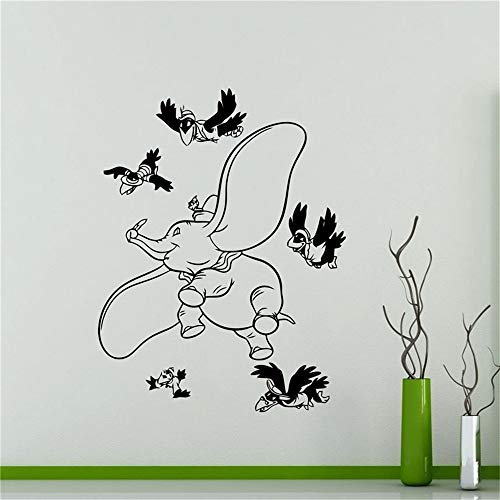 pegatina de pared frases Lindo Dumbo Elephant Decal Nursery Kids Room