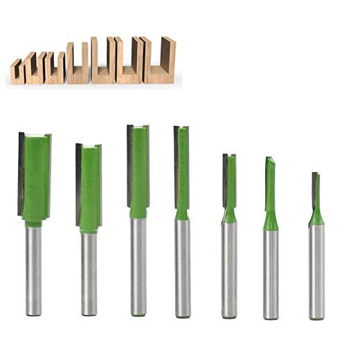 BIGP 6m m Shank Router Straight Bit Set, fresadora de madera del pedazo del router de la flauta solo/doble
