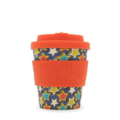 Ecoffee Cup Little Star BooCup 250 ml Becher mit Sternmuster, wiederverwendbar, Bambus