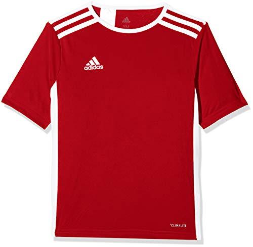 adidas Entrada 51 Camiseta de Fútbol para Hombre de Cuello Redondo en Contraste, Rojo (Power Red/White), M