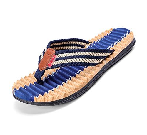 BOXIN Chanclas de Camuflaje para Hombres con Cama de Zapatos de Masaje, Ocio de Verano Y Sandalias de Playa Cómodas para Surfistas