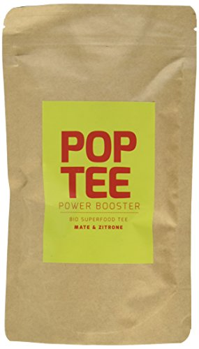 POP TEE Mate und Zitrone Tüte, Fitness, Superfood, Power Booster, 2er Pack (2 x 60 g)
