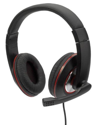 ednet 83126 Stereo-Headset mit Mikrofon schwarz