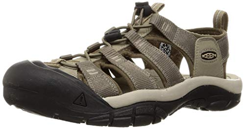 KEEN Men's Newport H2 Closed Toe Water Shoe Sport Sandal, Brindle/Canteen, 9