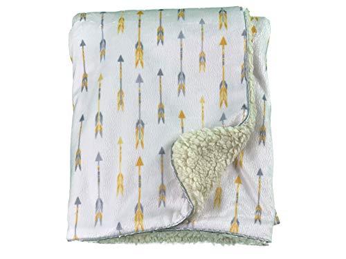 Pike Design Blissfully Soft Couverture en fourrure pour nouveau-né – Idéal pour les voyages (siège auto), landau/poussette, berceau, couffin (jaune)