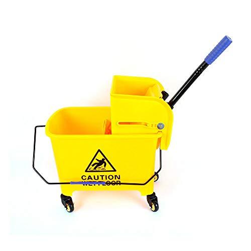 Fetcoi Carro de limpieza profesional de 20 litros, color amarillo claro, con...