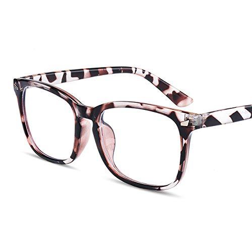 RuaRua Bloqueo Luz Azul Gafas,Anteojos De Ordenador De Moda, Marco Transparente para Hombres, Anteojos Ópticos Cuadrados para Mujer, Anteojos para Juegos Unisex Anti Fatiga Ocular, Ámbar C6