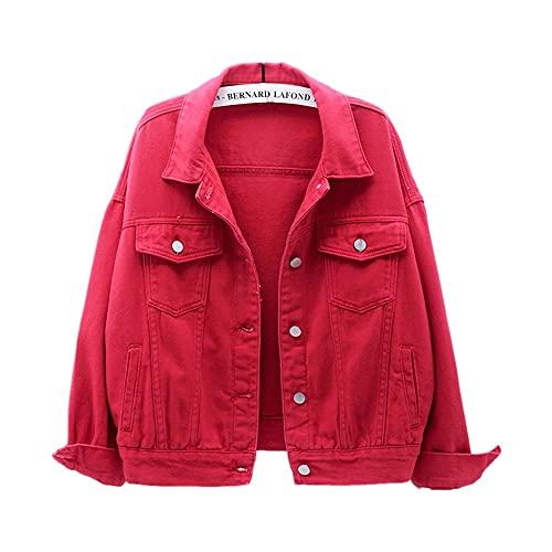 Chaqueta vaquera de talla grande para mujer primavera y otoño abrigo corto chaqueta casual