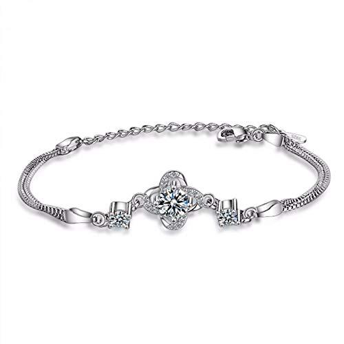 N/A Bracelet jewelry Trendy Oval Flower Cubic Zircon Chain Bracelets Wedding Engagement Bangles for Girls Women's Jewelry Charm Valentine's Day present