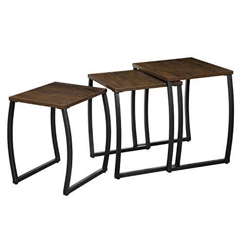 Roolee Set di 3 tavolini da salotto, tavolini da caffè, tavoli per salotto, camera da letto, Vintage