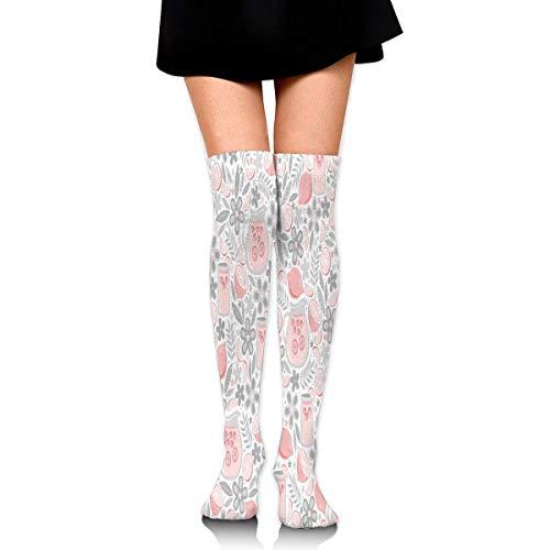 Grappige middag glas van roze limonade knie hoge warmer (25.59inch) sport compressie sokken