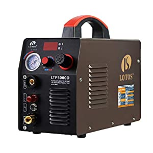 Lotos LTP5000D 50Amp Non-Touch Pilot Arc Plasma Cutter, Dual Voltage 110V/220V, 1/2 Inch Clean Cut, Brown by Lotos Technology