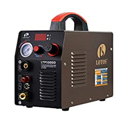 ★ NON-TOUCH PILOT ARC PLASMA CUTTER: efficiently cuts though rough, painted, and rusty surfaces and produces minimal slag. Pilot arc technology allows you to cut without touching the tip to the metal. Better cutting quality and longer consumable life...